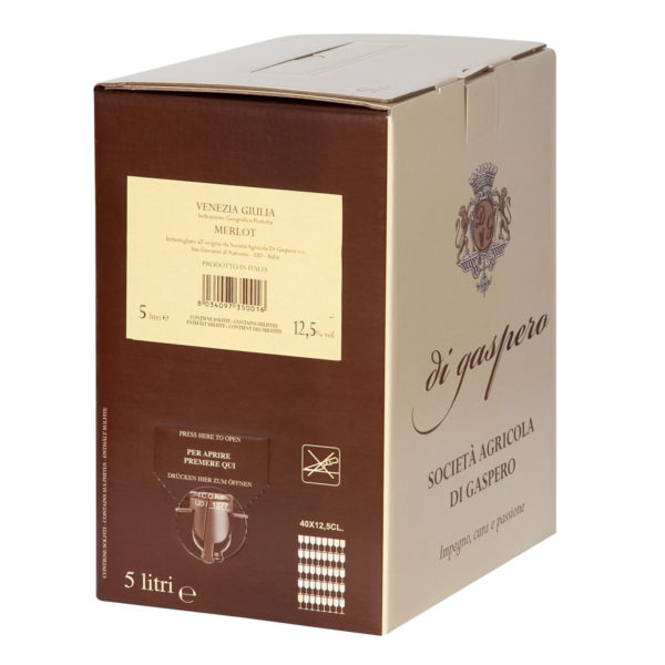 Merlot Bag in Box da 5 Litri