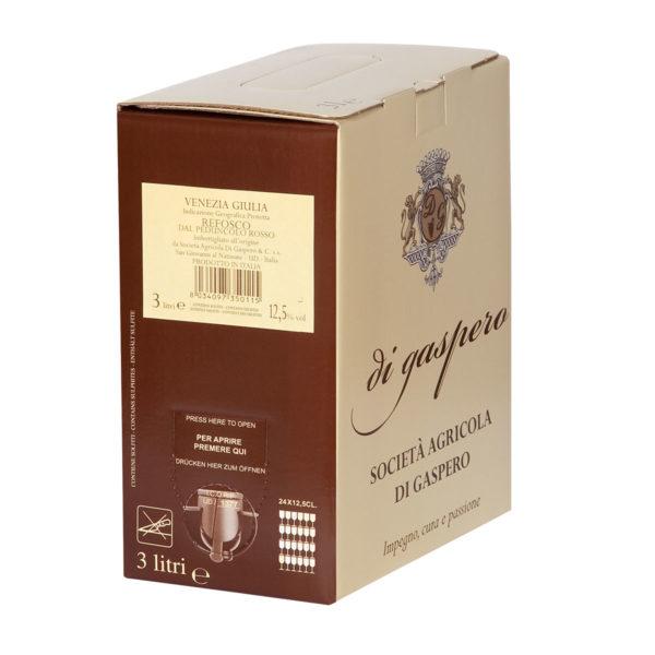 refosco vino rosso Bag in Box da 3 Litri
